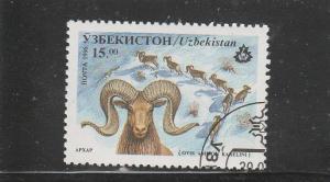 Uzbekistan  Scott#  108  CTO  (1996 Sheep)