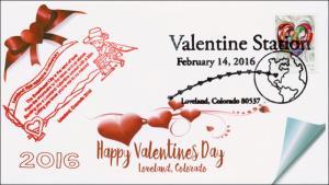 2016, Valentines Day, Loveland Colorado, 70th Anniv., Love, 16-017