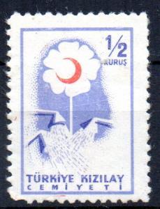 TURKEY - 1957 - RED CRESCENT - 1/2 Kurus -