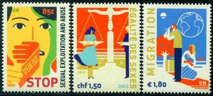 HERRICKSTAMP NEW ISSUES UNITED NATIONS Stop Abuse/Gender Equality/Migration