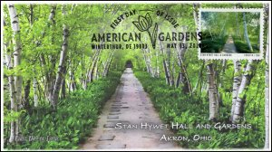 20-127, 2020, American Gardens, Pictorial Postmark, First Day Cover, Stan Hywet