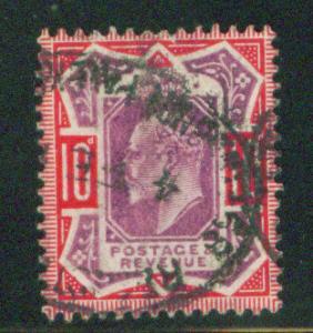 Great Britain Scott 137, KEVII CV$70 Nice cancel 1902-11