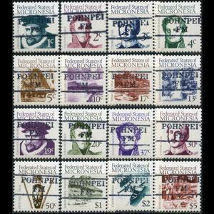 MICRONESIA 1984 - Scott# 5-20 Explorers Set of 16 CTO