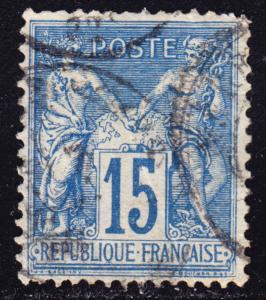 France Scott 92  F to VF used.