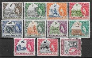 BASUTOLAND SG43/53 1954 DEFINITIVE SET MTD MINT
