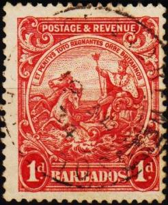 Barbados. 1925 1d S.G.231 Fine Used