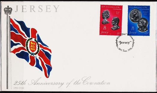 Jersey. 1978 FDC. 25th Anniversary of Coronation. Fine Used
