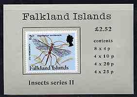 Booklet - Falkland Islands 1988 Insects (2nd series) £2.5...