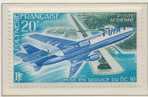 French Polynesia Stamp Scott #C-97, Mint Never Hinged - Free U.S. Shipping, F...