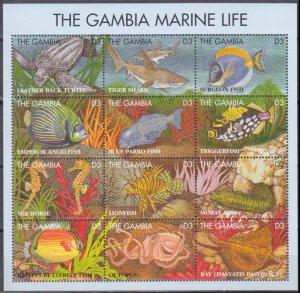1995 Gambia 2066-77KL Sea fauna 14,00 €
