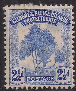 Gilbert & Ellice Islands 1911 KGV 2 1/2d Blue Pandanus Pine MM SG 11  ( B403 )