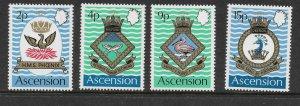 Ascension  152 - 155 (SG 149/52) -  Militaria - MNH - VF - CV$5.20