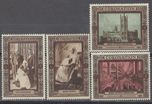COLLECTION LOT # 2532 GREAT BRITAIN 4 NU GUMMED CINDERELLA QV CORONATION 100th