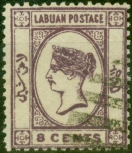 Labuan 1892 8c Violet SG41 Fine Used
