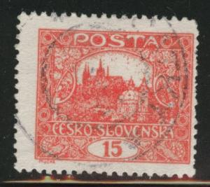 CZECHOSLOVAKIA Scott 44 Used brick red perforated