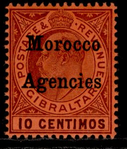 MOROCCO AGENCIES EDVII SG25, 10c dull purple/red, M MINT. Cat £24. ORDINARY