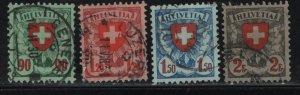 SWITZERLAND, 200-203, (4) SET, USED, 1924 SET OF 1924