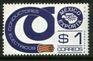 MEXICO Exporta 1114, $1P Conductors Unwmkd Fosfo Paper 5. MINT, NH. VF.
