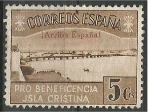 SPAIN, 1936, MH 5c, Civil War Jsla Cristina
