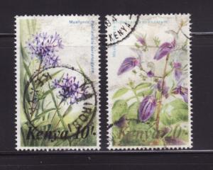 Kenya 259-260 U Flowers (B)