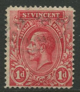 St Vincent - Scott 105 - KGV Definitive -1913 - Used - Single 1d Stamp