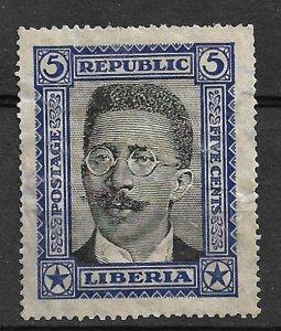 COLLECTION LOT #398 LIBERIA # 217 UNUSED NO GUM 1923 CV= $115