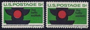 1272 - 5c Color Shift Error / EFO Traffic Signal Mint NH