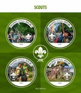 Z08 MLD190313a MALDIVES 2019 Scouts MNH ** Postfrisch