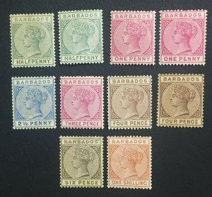 MOMEN: BARBADOS SG # 1882-6 CROWN CA MINT OG H £530 LOT #60656