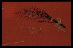 Austria 1912 Classic Krampus Devil Christmas Card USED 95268