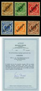 German Colonies CAROLINE ISLANDS 1899 SURCH. set 48º Sc# 1a-6a (Mi# 1I-6I) MH RR
