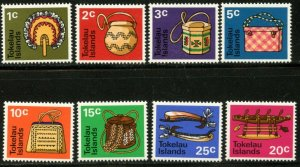 TOKELAU Sc#25-32 1971 Native Handicrafts Complete Set OG Mint NH