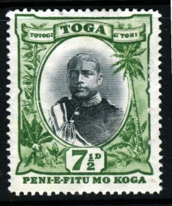 TONGA 1897 King George II 7½d. Black & Green SG 48 MINT