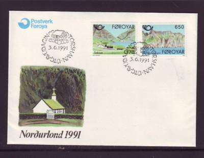 Faroe Islands Sc226-7 1991 Nordica stamps FDC