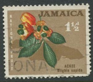 Jamaica -Scott 218 - Definitive Issue -1964 - Used - Single 1.1/2p Stamp