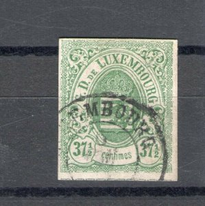 1859 Luxembourg - N°10 - 37 1/2c. Verde, Used Vinyl Decals/Sign To