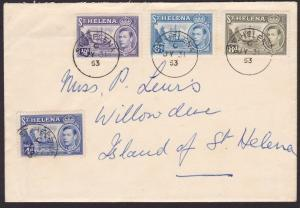 ST HELENA 1953 cover - GVI values to 8d....................................67970