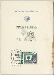 61529 - BRAZIL - POSTAL HISTORY - OFFICIAL POST LEAFLET: CLubs SCOUTS? 1967