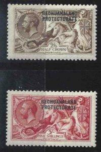 Bechuanaland Protectorate 1913-1924 SC 92-93 MLH SCV $330.00 Set