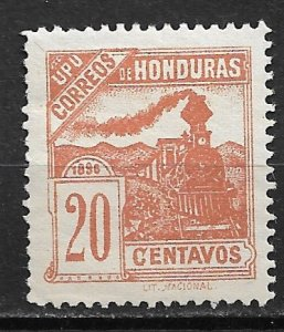 1898 Honduras 108 Train/ UPU 20c MH