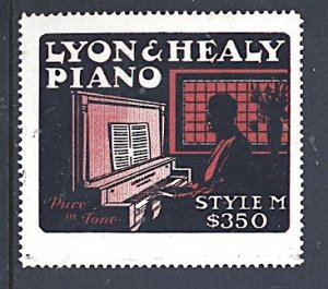 USA Cinderella Lyon and Healy Piano Style M $350 c.1914