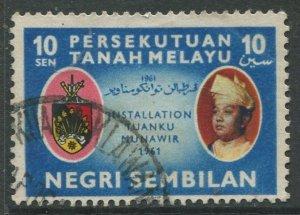 STAMP STATION PERTH Negri Sembilan #75 State Crest Used 1961