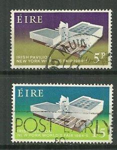 1964 Ireland 194-5 New York World Fair C/S used.