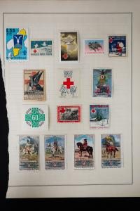 Stamp Collection of Early Red Cross Labels