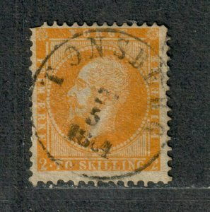 Norway Sc#2 Used/F, Cv. $160