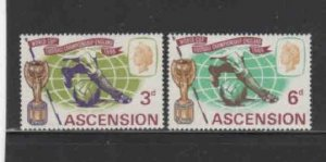 ASCENSION #100-101  1966 WORLD CUP SOCCER     MINT VF NH  O.G