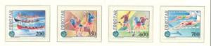 Faroe Islands Sc 193-6 1989 Island Games stamp set mint NH