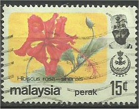 PERAK, 1979, used 15c, Flower Scott 157