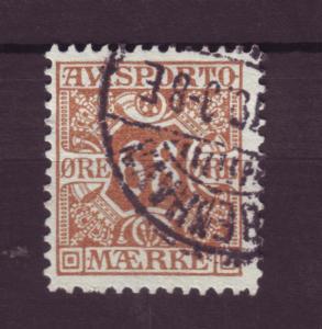 J3257 JL stamps 1907 denmark used #p7 $40.00v newspaper