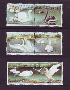 Isle of Man  Sc 482-7 1991 Swans stamp set mint NH